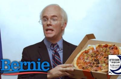 Bernie Sanders, pizza