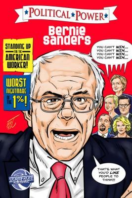Bernie Sanders comic book cover