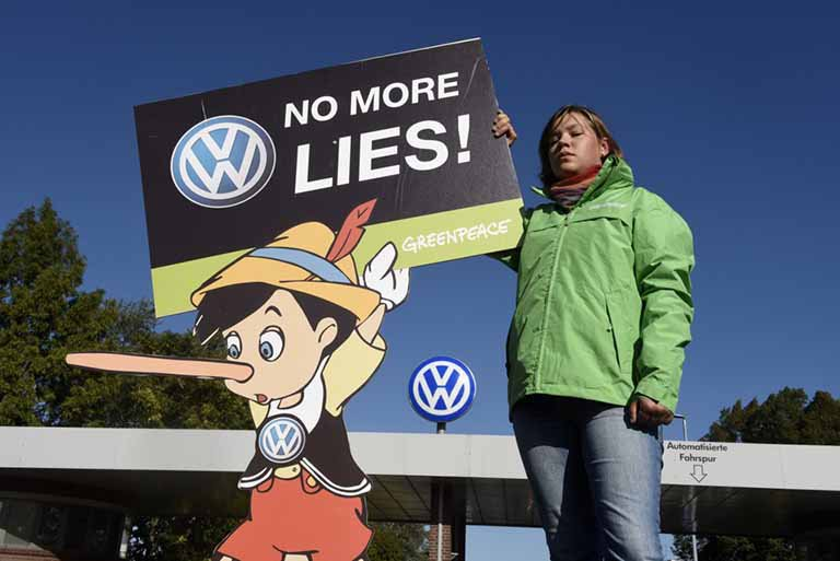 headlines today, VW, Greenpeace