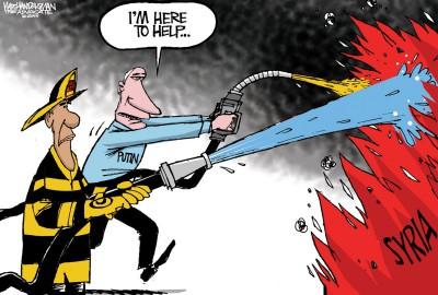 Assad and Putin cartoon