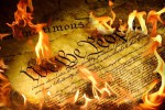 """Trump Burns Constitution to Chants of """"U-S-A"""""""