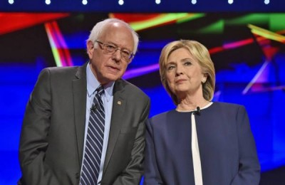 Sen. Bernie Sanders and Hillary Clinton