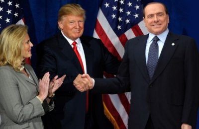 Donald Trump and Silvio Berlusconi