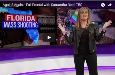 samantha bee, mass shooting