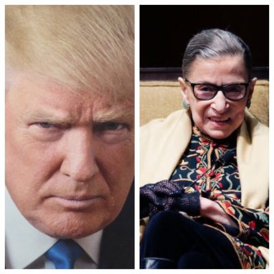 Donald Trump, Ruth Bader Ginsberg