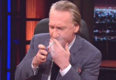 Bill Maher, lighting up