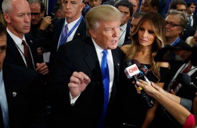 donald trump spin room debate