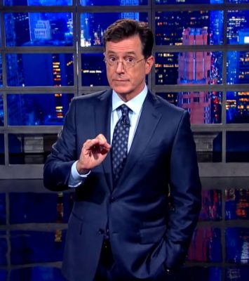 Stephen Colbert, Trump, rigged election