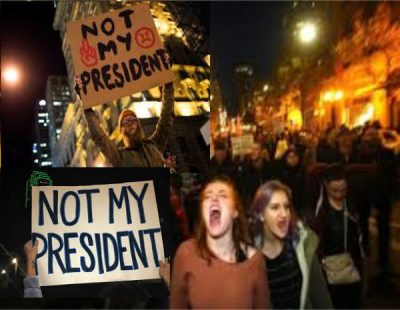 professional protestors, Trump, election