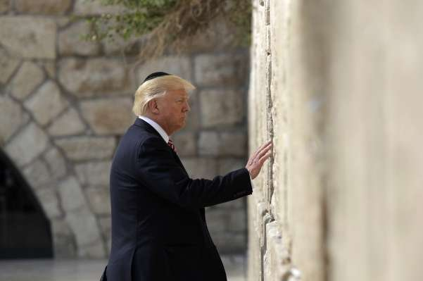 Trump in Israel: Disappointed at Failing to Find New Accountant