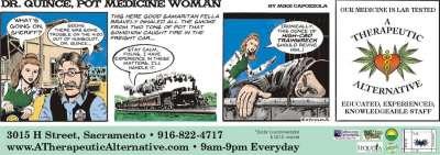 cartoon ads, Dr Quince, Pot Medicine Woman