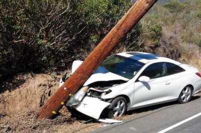 pole, drunk driver