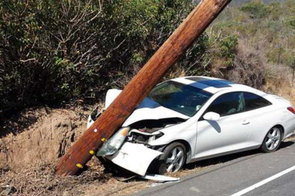 Heroic Pole Steps in Front of Drunk Driver