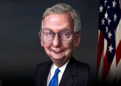 Mitch McConnell by DonkeyHotey