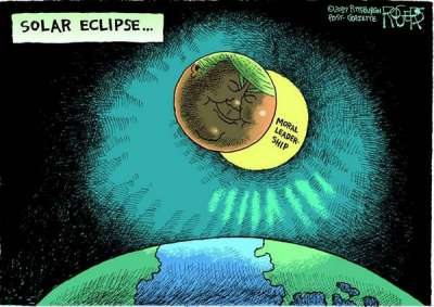 Total Eclipse, Rob Rogers, News in Cartoons