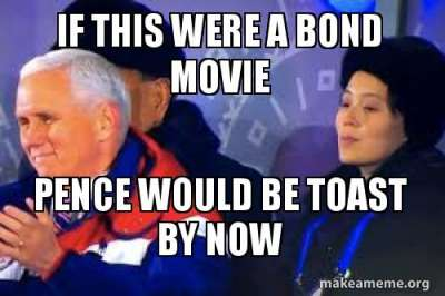 North Korea, Pence