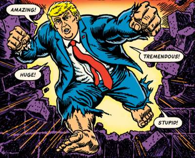 Donald Trump, superhero