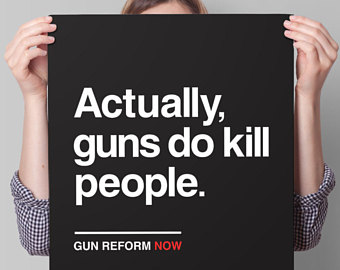 "Supreme Court has declared that ""Guns are people too."""