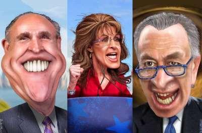 The Famous 3, Rudy Giuliani, Sarah Palin, Chuck Schumer