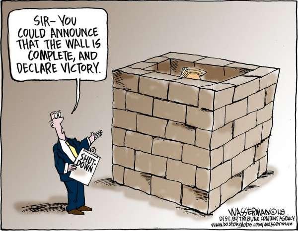 Democrats Counter-Proposal: Build a Wall Around Trump