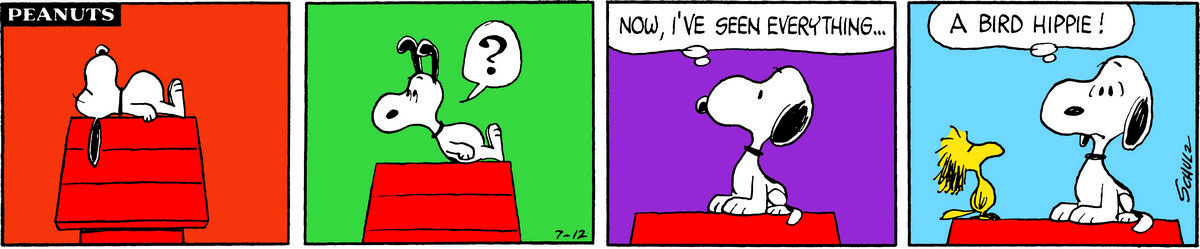 Peanuts strip, Woodstock Music Festival