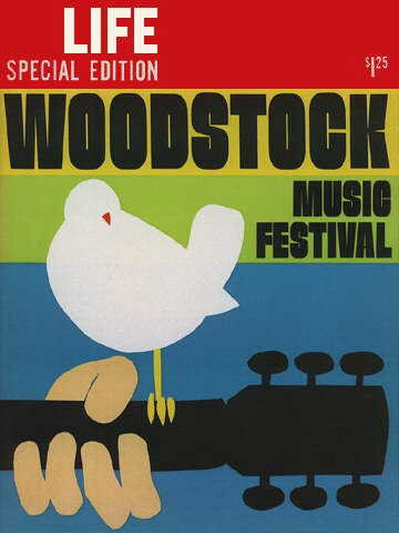 September 1969 Life magazine cover on the Woodstock Music Festival.