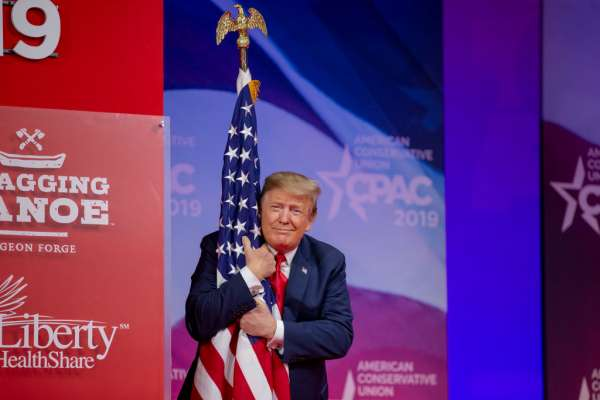 CPAC flag hugging prez