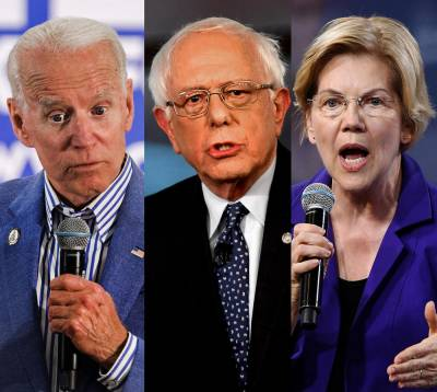 Democratic debaters, Joe Biden, Bernie Sanders, Elizabeth Warren