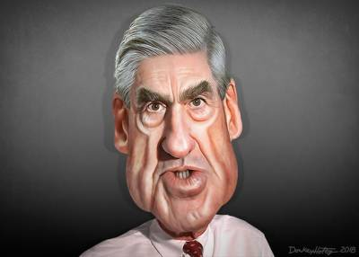 Special Counsel Robert Mueller Caricature by DonkeyHotey