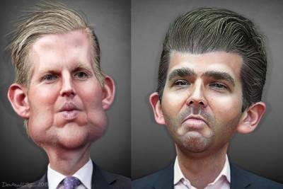 Trump brothers DonkeyHotey