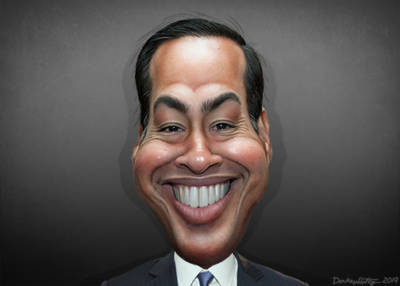 Debaters in Houston, Julian Castro by DonkeyHotey
