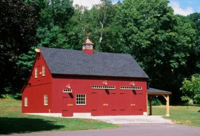 husband house red barn