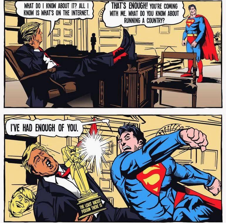 Superman vs Trump Comic part 2 of 3