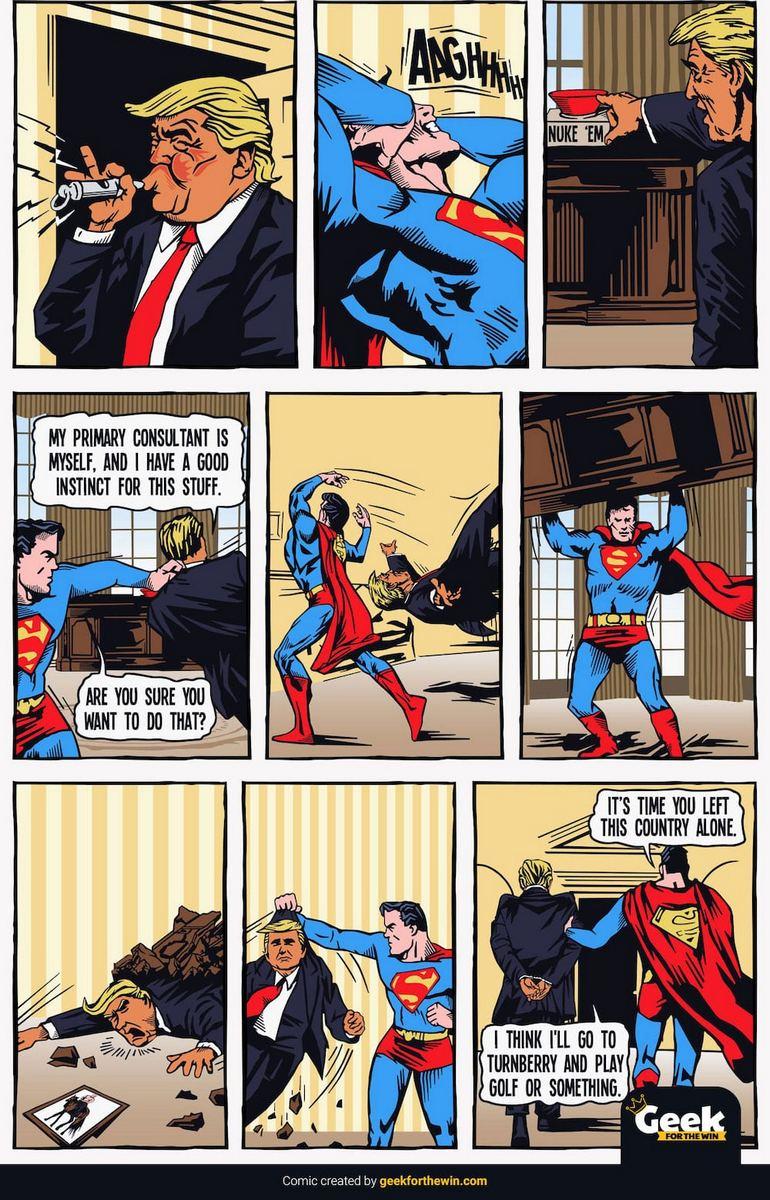 Superman vs Trump Comic part 3 of 3