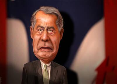 John Boehner, caricature by DonkeyHotey