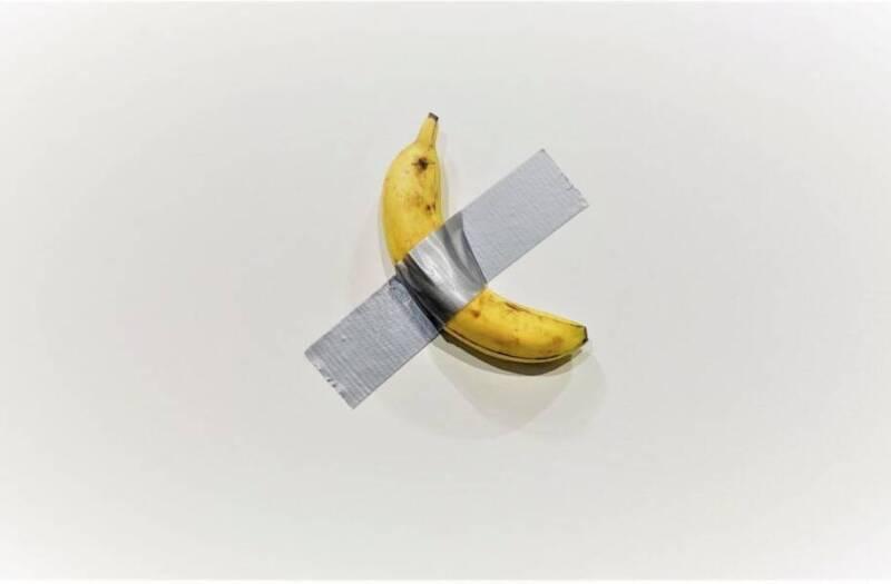 banana taped