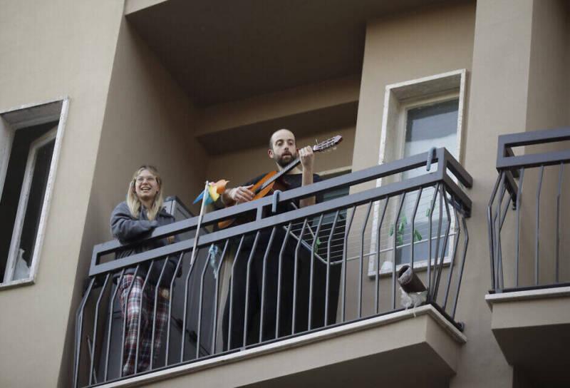 balconies in Rome