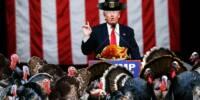Trump, Suffering 'Rally-Withdrawal' Symptoms, Addresses Pro-Trump Turkeys