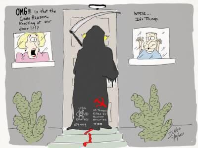Dan Alba cartoon