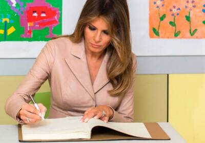 Christmas letter from Melania Trump