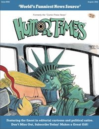 Testimonials for Humor Times subscriptions. Current issue cover - click to enlarge