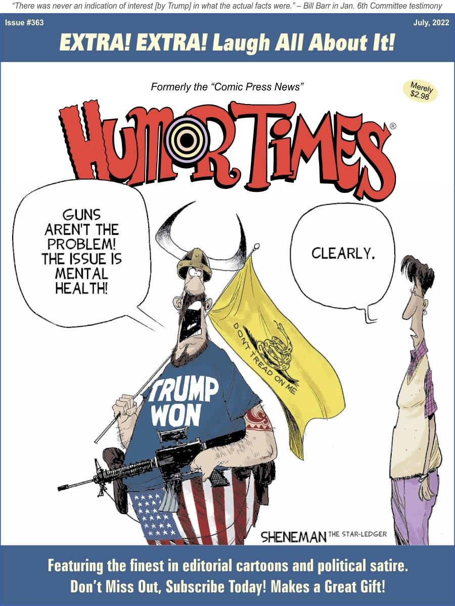 Check Out the Cartoon Cover of the Latest Issue of the Humor Times!